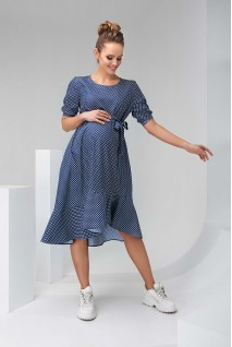 Платье 2133 1512 синий для беременных и кормления