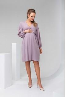 Платье 2140 1511 темно-лавандовый для беременных и кормления