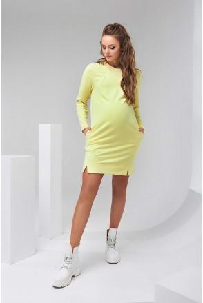 Сукня 2142 1462 жовтий для вагітних і годування