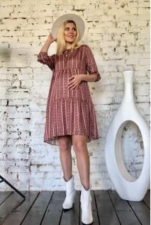 Платье 2008 1103 терракотовый для беременных и кормления