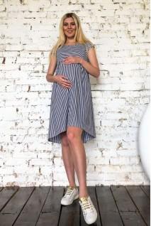 Платье 2053 0332 в полоску для беременных и кормления