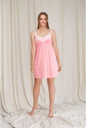 Ночная рубашка Розовая 2069 1362 для беременных и кормления