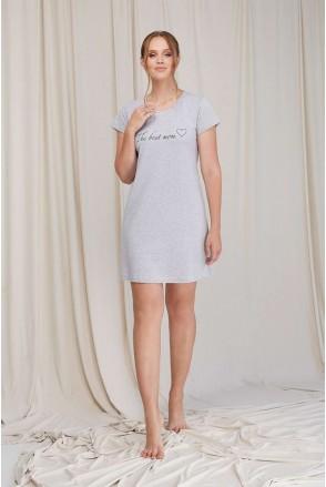 Ночная сорочка серая 2060 1361 для беременных и кормления
