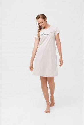 Ночная рубашка 2060 1395 Бежевый для беременных и кормления