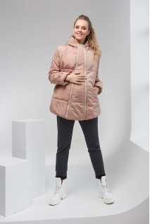 Зимняя куртка 1780 1431 2 в 1 кофейный Amanda для беременных
