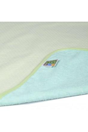 Пеленка двустороняя непромокаемая ЭКО ПУПС Jersey Classic (Зеленый)