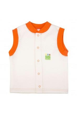 Детский жилет Еко Пупс Jersey Style, капитон (Молочный)