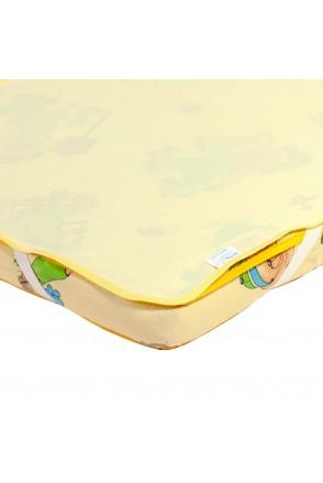 Детский непромокаемый наматрасник ЭКО ПУПС Поверхность Premium (Желтый)