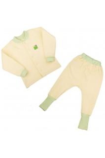 Детский комплект 2в1 Еко Пупс Jersey Style капитон (кофта, брюки) (Лимон)