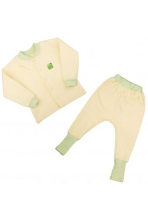 Дитячий комплект 2в1 Еко Пупс Jersey Style Капітон, (кофта, штани) (Лимон)