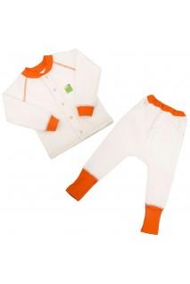 Детский комплект 2в1 Еко Пупс Jersey Style капитон (кофта, брюки) (Молочный)