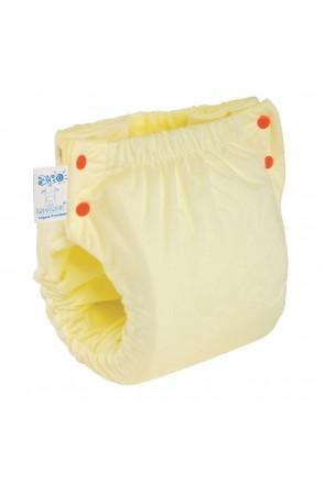 Подгузник трикотажный ЭКОПУПС Easy Size Premium с вкладышем Abso Maxi (Желтый)