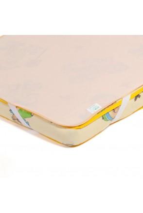 Детский непромокаемый наматрасник ЭКО ПУПС Поверхность Premium (Персиковый)