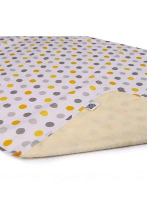 Пеленка двустороняя непромокаемая ЭКО ПУПС Eco Cotton (Горошек)