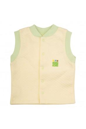 Детский жилет Еко Пупс Jersey Style, капитон (Лимон)