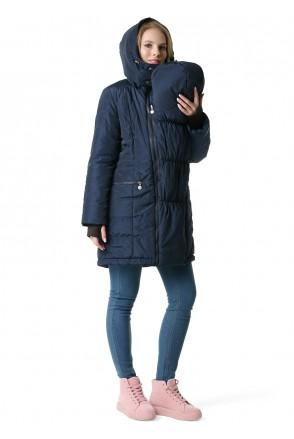 """Куртка 3в1 зимн. """"Мадейра"""" синій для вагітних і слінгоносіння"""