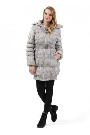 """Куртка 3в1 зим. """"Ісландія"""" бежеві візерунки для вагітних і слінгоносіння"""