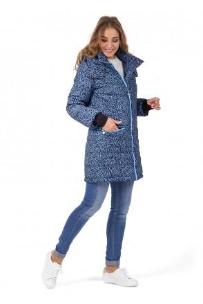 """Куртка 3в1 зимн. """"Мадейра"""" сині літери для вагітних і слінгоносіння"""