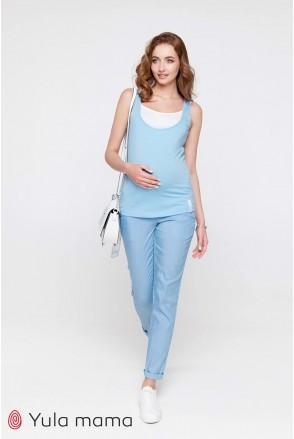 Брюки Melani полоска бело-голубая для беременных