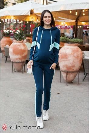 Костюм Deniza темно-синій з аквамарином для вагітних і годування