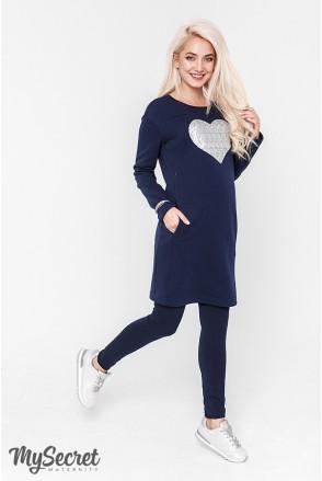 Сукня Milano warm синій для вагітних і годування