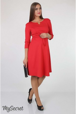 Платье Sunny арт. DR-36.052 красное для беременных и кормящих