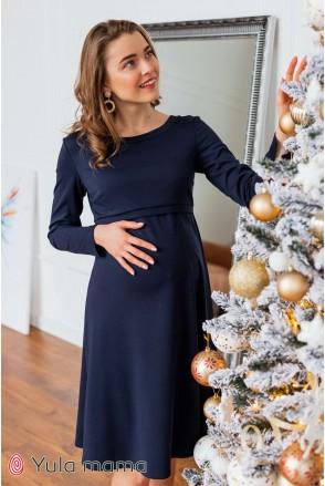 Платье Olivia темно-синий для беременных и кормления