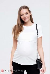 Футболка Margo молочный для беременных и кормления