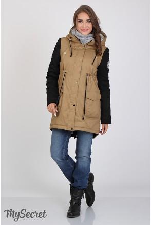 Куртка-парка Lex OW - 36.054 беж + чорний для вагітних