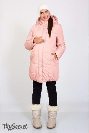 Зимова куртка Jena пудра для вагітних