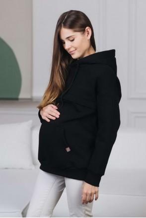 Худи для беременных и кормления Черный
