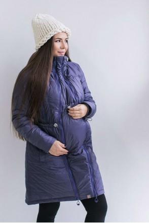 Зимняя слингокуртка 3 в 1 Грей для беременных и слингоношения