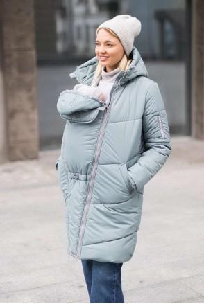 Зимняя слингокуртка 3 в 1 для беременных и слингоношения Лазурь