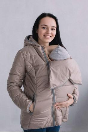Демисезонная слингокуртка 3 в 1 Бежевый для беременных и слингоношения
