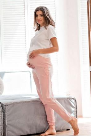 Спортивные штаны c лампасами Lublin пудра для беременных