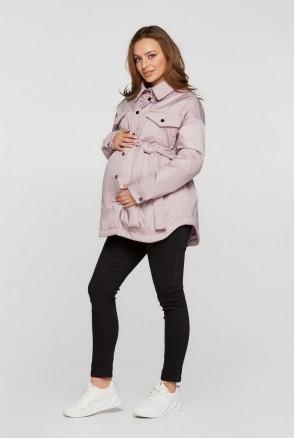 Демісезонна куртка-сорочка Alabama пудра для вагітних