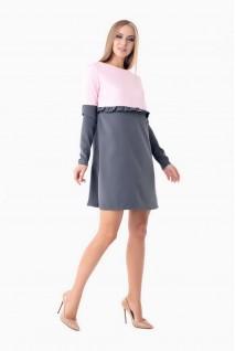 Платье Warsaw серый с розовым для беременных и кормящих