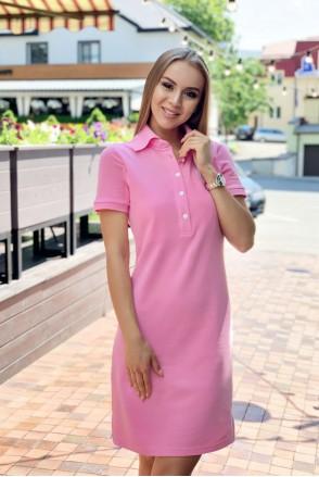 Платье Polo Oxford розовый для кормления