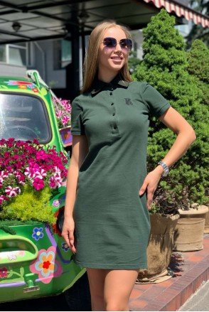 Платье Polo Oxford хаки для кормления