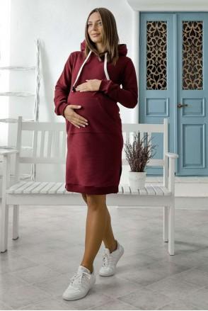 Платье Antalya бордо для беременных и кормления