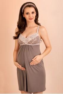 Ночная рубашка 1383 капучино для беременных и кормления