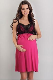 Ночная рубашка 3068 фуксия для беременных и кормления