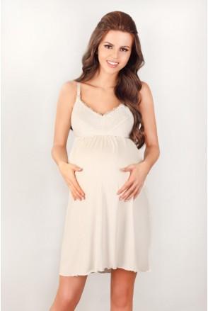 Ночная рубашка 3022 ecru для беременных и кормления