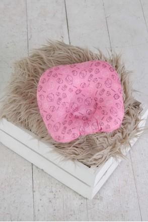 """Подушка для новорожденных """"Барашки"""" малиновые"""