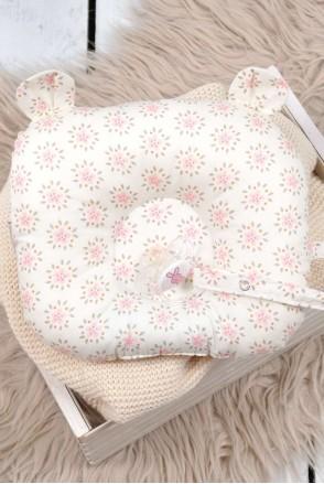 """Дитяча подушка для новонароджених """"Ведмедикові вушка"""" квіти"""