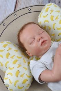 """Детская подушка для новорожденных """"Butterfly"""" бананы"""