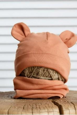 Набор шапка с манишкой Bruin карамельный