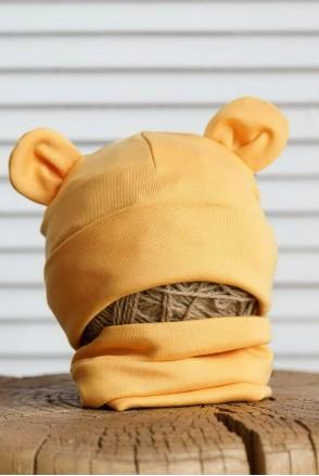 Набор шапка с манишкой Bruin горчичный