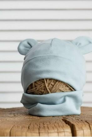 Набор шапка с манишкой Bruin сизый