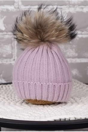 Вязаная шапочка Pumpkin лаванда